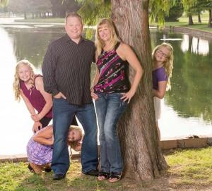 Jill Christiansen and her family